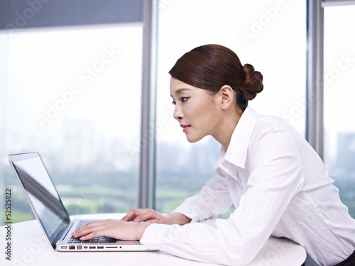 asian businesswoman working in office