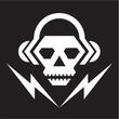 Skull Music Logo Sign 02
