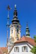Kirchturm Ehrenhausen, Steiermark, Österreich
