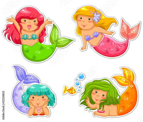 Staande foto Zeemeermin little mermaids
