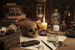 canvas print picture - alchemy still life