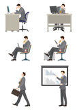 働くビジネスマン