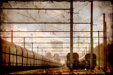 Retroplakat - Güterbahnhof