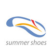 Vector logo summer shoes