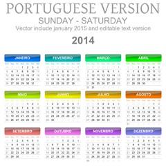 2014 calendar portuguese version