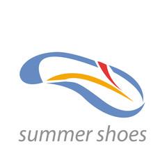Vector logo summer shoes