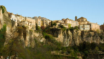 Hanging Houses in the medieval town of Cuenca,  Spain.