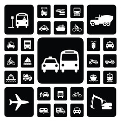 Icon traffic set