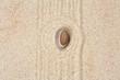 galet zen sur sable