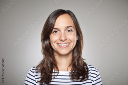 canvas print picture Portrait of a normal girl smiling
