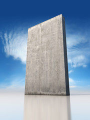 Abstract monolithic concrete slab