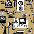 vector vintage phones seamless pattern