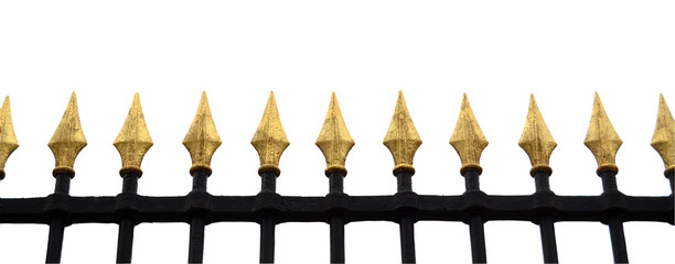 Isolation Of Gold Fence With Clipping Path