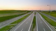 Timelapse video of highway near Gdansk at dusk, Poland