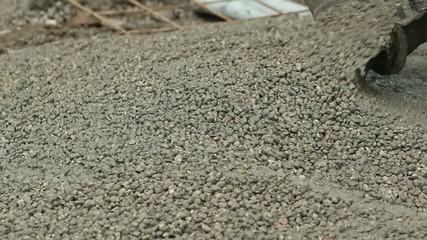 Gettata di cemento fresco
