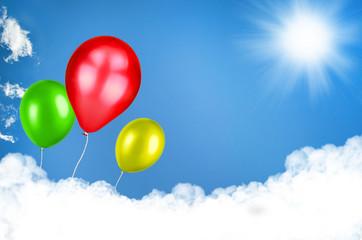 Luftballons fliegen