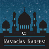 Ramadan Kareem. Abstract religious illustration.