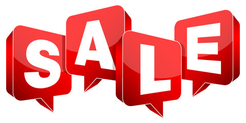 "Speechbubbles ""SALE"" Red"