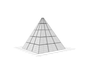 Pyramid in wireframe mode