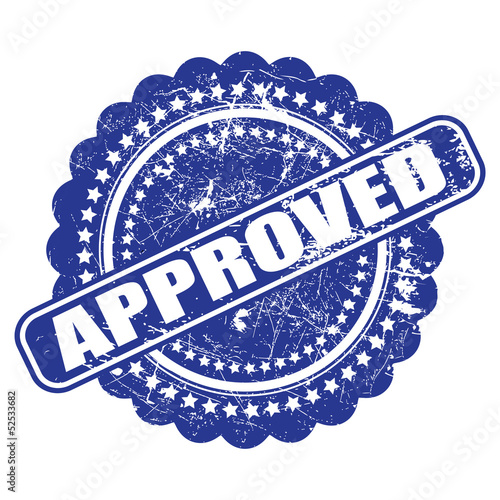 Seal of approval(quality check) grunge vector on white backgroun