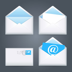 Envelopes icons set. Vector