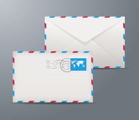 Vector postage envelopes