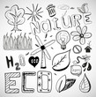 Ecology nature vector doodles