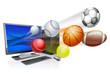 Sports computer app concept