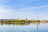 South-eastern Bucharest suburbs near Vacaresti Lake ecosystem. poster