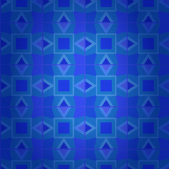 Geometrical dark blue damask seamless texture