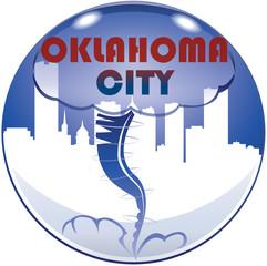 Oklahoma city tornado simbolo logo