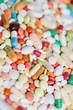 Viele verschiedene Medikamente von oben