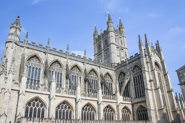 Bath Abbey Architecture Somerest Engalnd