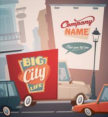 City life background