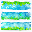 Set of beautiful green nature banners