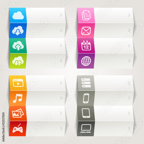 Rainbow - Cloud computing icons / Navigation template