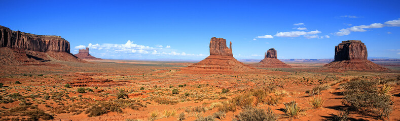 panomaric view of Monument Valley