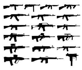 Guns silhouettes