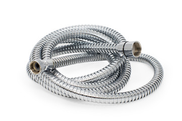 Chrome-plated corrugated hose for water
