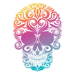 Floral Decorative Skull