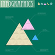 3D geometric design template for infographics