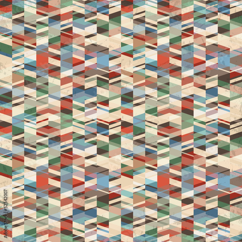 Vector retro grunge geometric background
