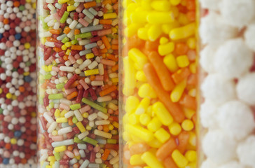 colorful chewy dragees background