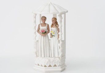 Female wedding couple topper