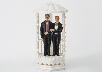 Male wedding couple topper