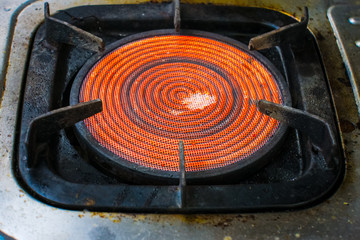 Heat steel in gas stove