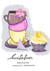 Einladung, Kaffee, Tee Zeit