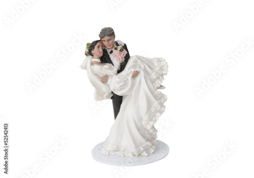 Wedding couple topper, isolated with clipping path