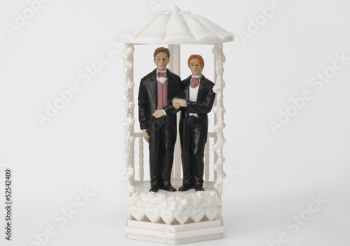 Male wedding couple topper