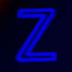 neon letters of the alphabet or abstract glowing symbols